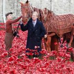Joey and Michael Morpurgo at the Tower Of London