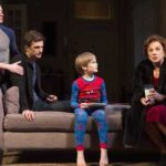 Bobby Steggert, Frederick Weller, Grayson Taylor, and Tyne Daly in Mothers and Sons