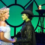 Emily Tierney (Glinda) and Ashleigh Gray (Elphaba) in Wicked the Musical