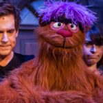The 2014 cast of Avenue Q which is touring in the UK in 2015-16